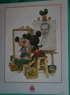 PRINT OF MICKEY MOUSE DRAWING WALT DISNEY PURCHASED FROM DISNEY WORLD