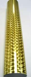 Gold Large Engine Turn Sign Vinyl Cutter 24 x 10 ft