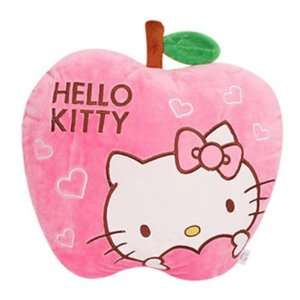 Sanrio Hello Kitty Apple Pink Plush Pillow 16