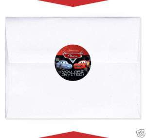 24 CARS Invitation Envelope Seals