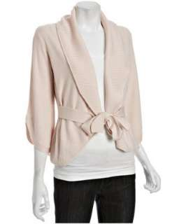 BCBGMAXAZRIA corozo merino wool cable knit cardigan sweater