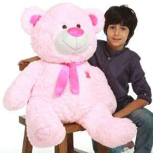 NEW CUDDLY Plush PINK TEDDY BEAR 36 stuffed animal