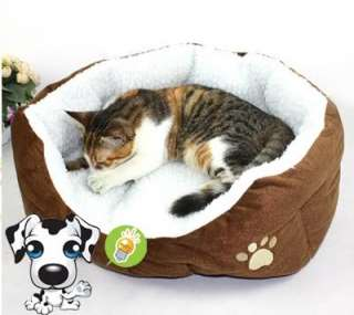 colors Warm Round Unique Soft Pet Dog Cat Bed + Cushion Dog Supplies