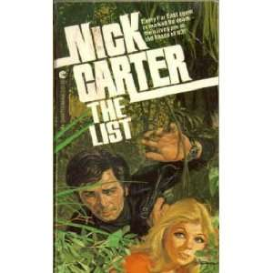 The List (9780441484669) Nick Carter Books