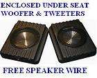 Universal Speaker Enclosure Under Seat Hot Rod Street R (Fits 1951