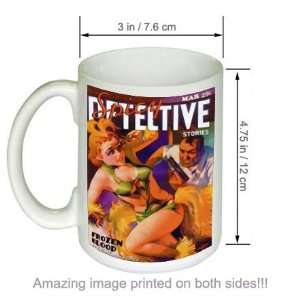 Frozen Blood Spicy Detective Stories Pulp Art COFFEE MUG
