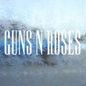 Guns N Roses White Decal Metal Hard Rock Band Car White