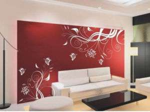 Art Decor Butterfly With Flower Wall Stickers Vinyl#343