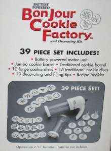 FACTORY BATTERY POWERED 39 PIECE COOKIE PRESS & KIT NEW IN BOX