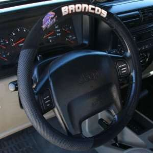 Boise State Broncos Black Steering Wheel Cover Automotive