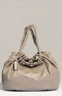 Michael Kors Tonne Gathered Metallic Leather Tote