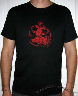Thai Red HANUMAN Monkey God RAISED TATTOO T shirt L New