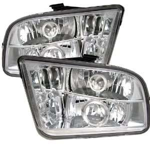Spyder PRO YD FM05 HL C Ford Mustang Halo Chrome Projector Headlights