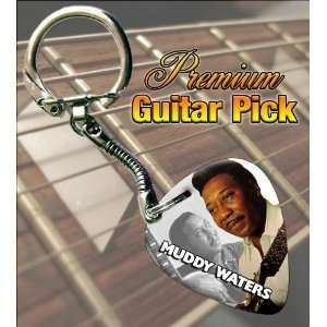 Muddy Waters Premium Guitar Pick Keyring Musical