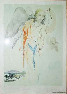 AFTER Salvador Dali Guardian Angel ART LITHOGRAPH NOT SIGNED BY DALI