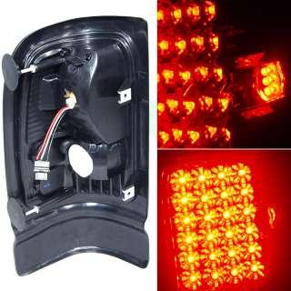 94 01 Dodge Ram LED Smoked Tail Lights+3rd LED Brake
