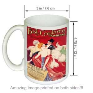 Bal de la Couture Vintage Advert Art COFFEE MUG Kitchen