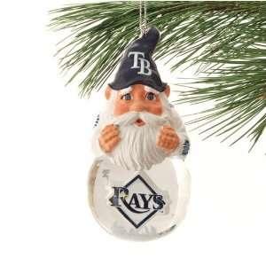 Tampa Bay Rays Light Up Snow Globe Gnome Ornament  Sports