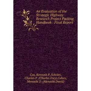 Charles F. (Charles Frey),Cohen, Menashi D. (Menashi David) Cox Books
