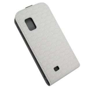 Distributors White Embossed Square Pattern Flip Phone Case for Samsung