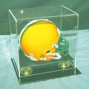Coachs Choice Mini Football Helmet Display Case Sports