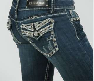 La Idol Jeans Crystal Cross Plus Size Bootcut. 17 19 21