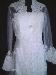 PC Train Long Sleeve Wedding Gown Dress size 4 to 24