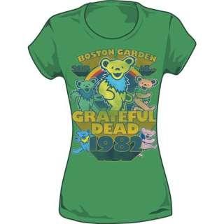 New Grateful Dead Boston Garden 1982 Concert Tour Women Ladies Tee Top