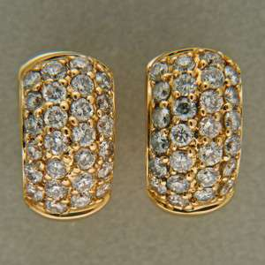 DESIGNER SONIA B 52 FULL CUT 1.04CT DIAMOND 14K YELLOW GOLD HUGGIE