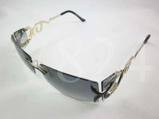 CAZAL Vintage LEGEND Sunglasses Black Gold Frame / Grey Gradient 9019
