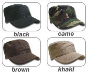 LOT OF 3 PCS COTTON FITTED MILITARY ARMY CADET HAT CAP