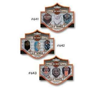 Three Pack Harley Davidson Bar & Shield Wings #642