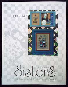 Sisters & Best Friends Cross Stitch Chart   Dream Big