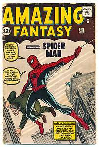 AMAZING FANTASY #15 G  1st AMAZING SPIDER MAN, Signed by Stan Lee