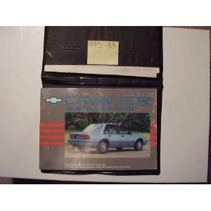 1990 Chevy Chevrolet Cavalier Owners Manual Chevrolet motors Books