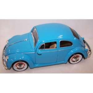 Showroom Floor 1959 Volkswagen Beetle in Color Sky Blue Toys & Games