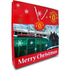 Manchester United Fc Stadium Football Paper Gift Bag Official