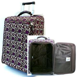 ROXY Retro Wheelie Suitcase Hand Luggage Trolley Case