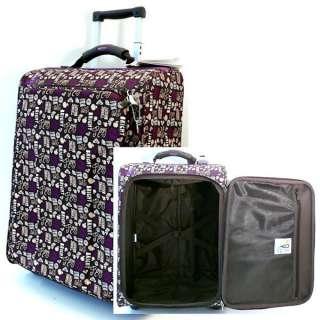 ROXY Retro Wheelie Suitcase Hand Luggage Trolley Case