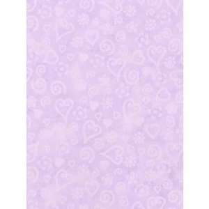 Whimisical Wallpaper Tonal Hearts Wallpaper in Purple: Home & Kitchen