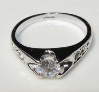 Ring 18K White gold GP SWAROVSKI CRYSTAL RINGS