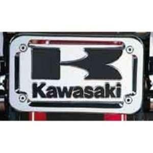OEM Motorcycle Vulcan License Plate Frame (Chrome) by Kawasaki. OEM