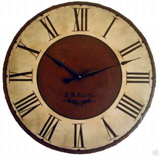 Large Wall Clock 30 Antique Brown Big Cambridge tan