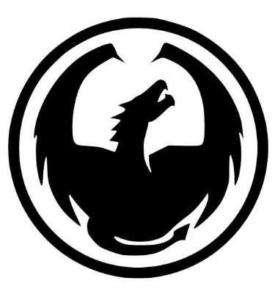 DRAGON OPTICS SUNGLASSES/GOGGLES BLACK LOGO STICKER NEW