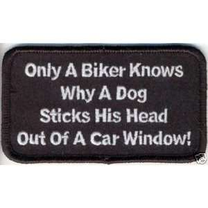 ONLY A BIKER KNOWS Fun Embroidered Biker Vest Patch