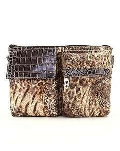 Brown Leopard Animal Print Fanny Pouch Waist Pack Belt NeW