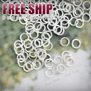 4x4mm Iron Round Silver DIY Open Jump Rings wholesale FREE SHIP JR0019
