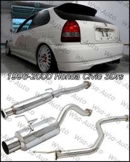 96 00 Honda Civic JDM N1 Catback Exhaust Muffler 3Dr