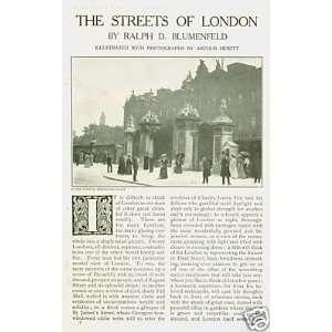 1907 Streets London England Buckingham Palace St Paul