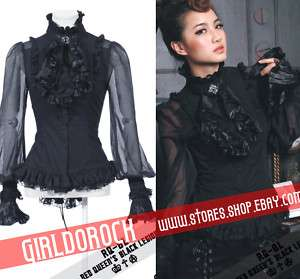 PUNK VISUAL KEI LACE GOTHIC 21094 QUEEN CLIP SHIRT S XL